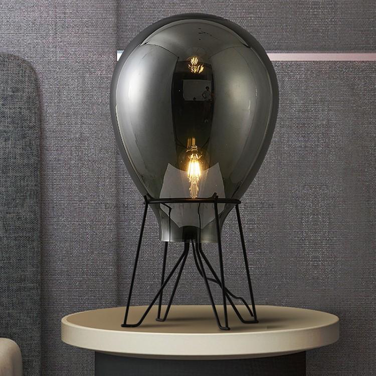 Nordic creativa del vidrio del arte de lámpara de mesa de la sala de lectura Decoración del dormitorio turística del accesorio ligero TA171