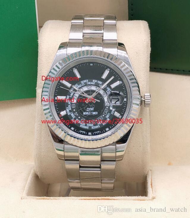 Fornitore di trasporto di fabbrica di alta qualità orologi 42 millimetri quadrante nero 326934 Asia 2813 meccanici automatici Mens Orologi dell'orologio