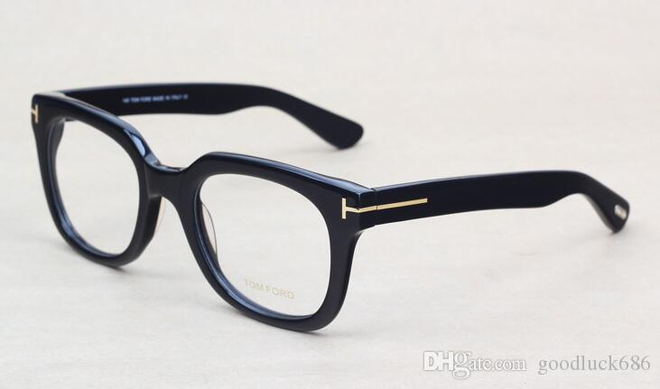العلامة التجارية النظارات الرجال والنساء T5179 الأزياء وصفة طبية النظارات إطار النظارات البصرية خلات كبيرة مع القضية