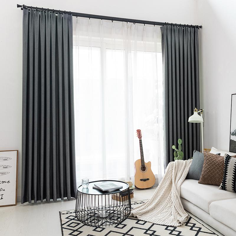 Cityincity Modern Curtains Finished Drapes Window Blackout Curtain For Living Room The Bedroom Blinds Q190530