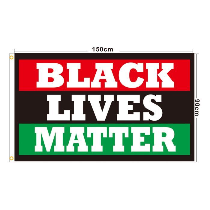 Lives Noir Matière 3x5 Drapeaux, 80% polyester bon marché Purger numérique Imprimé Polyester Hanging Publicité Utilisation, Livraison gratuite