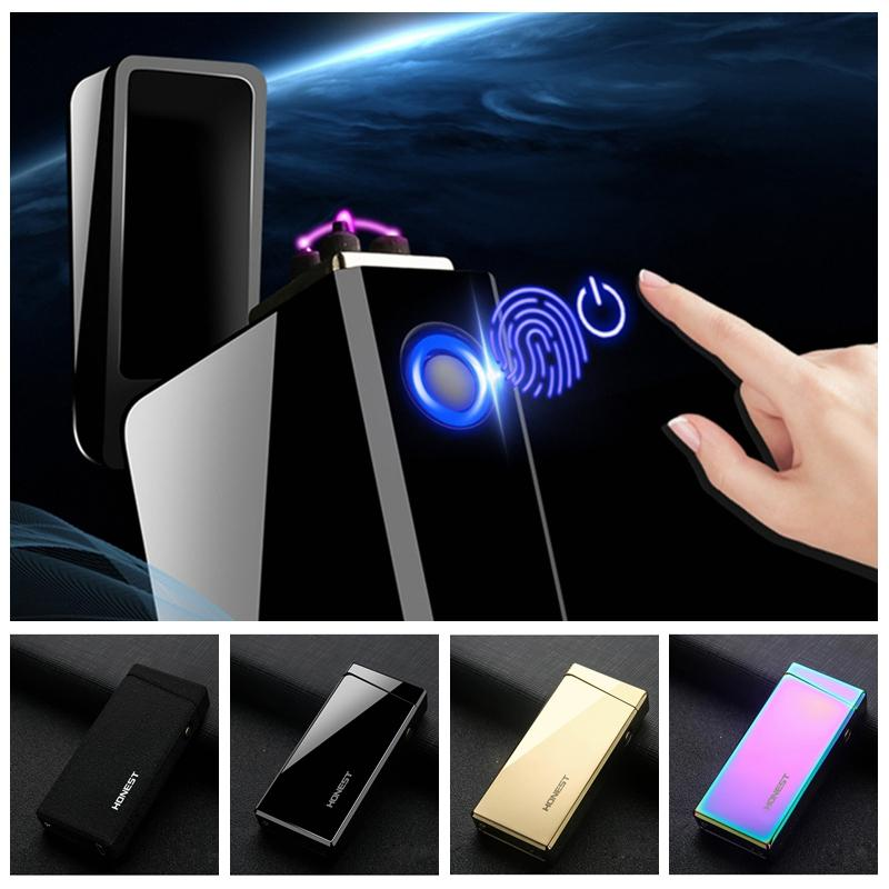 Новый Красочный Зажигалка Сплава Цинка USB ARC Ветрозащитный Высокое Качество Портативный Инновационный Дизайн Для Сигарет Бонг Курительная трубка Горячий Торт