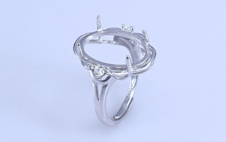13 * 18 ملليمتر 925 الفضة الاسترليني فتاة النساء شبه جبل قواعد الفراغات قاعدة فارغة سادة حلقة إعداد مجوهرات الزفاف النتائج diy a2573