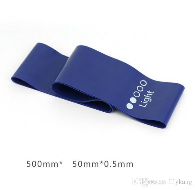 Yoga pilates elástica bandas de treinamento 5 níveis de resistência banda natureza látex tubos de esportes de fitness laços 5pcs / set cordas expansor para as pernas quadril
