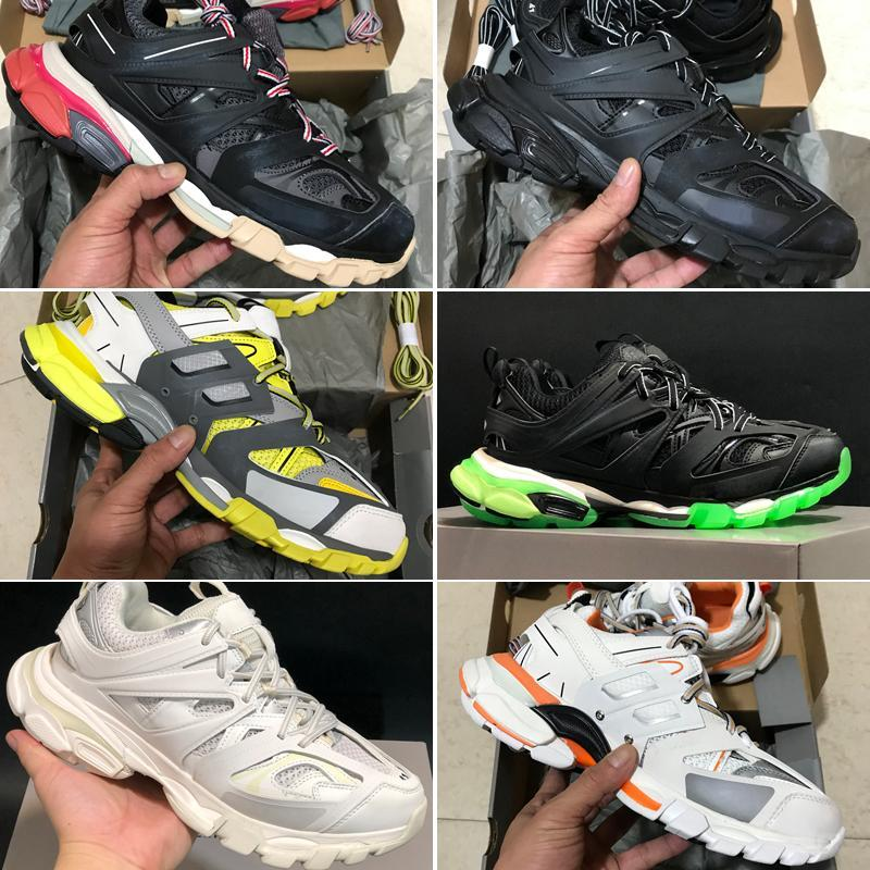 2020 LuxuryBalenciagaTriple S 2019 Release Track 3.0 Gomma Maille Running Shoes Paris Men Track 3M Triples Running Shoes Outdoor Joggin From