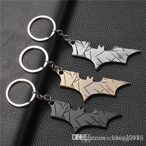 17 styles DC jewelry Superhero Batman Keychain Batman bottle opener pendant Superman key chain Comic Figure Accessories Key Rings jssl001