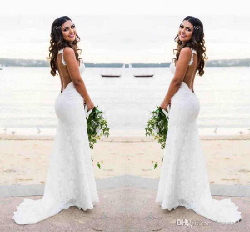 Sexy Beach Country Style Lace Mermaid Wedding Dresses Boho