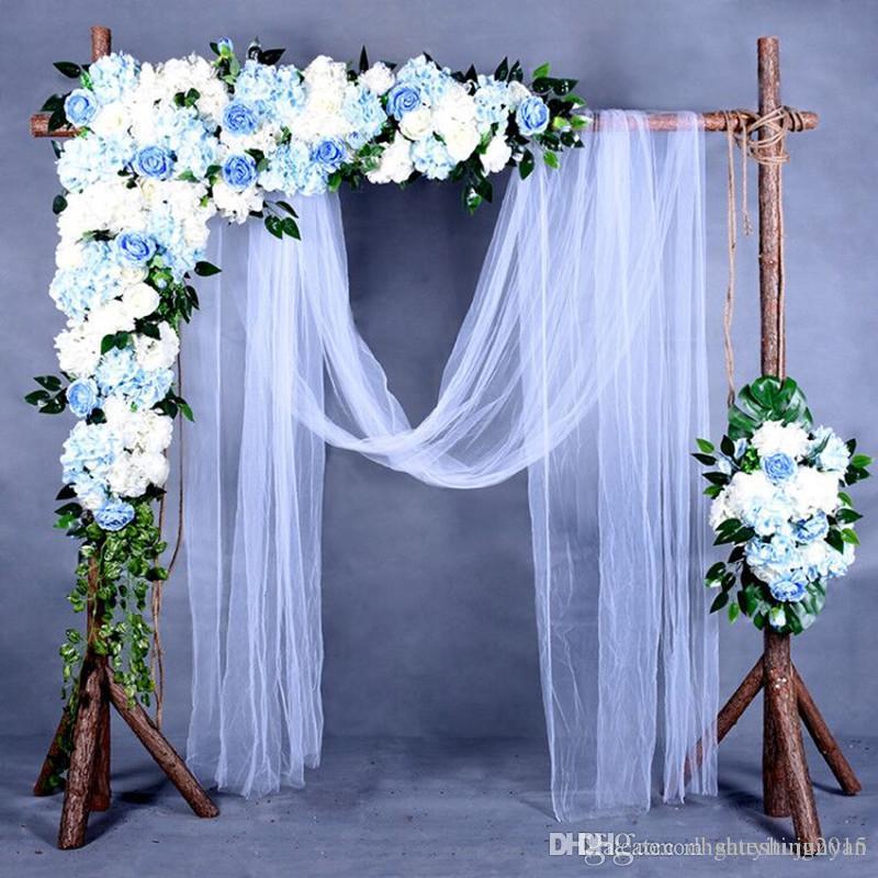 Haut de gamme de mariage décoration fond Arche Centerpieces Triangular Fleur Ligne Décor Party bricolage Rose Hydrangea Composition florale