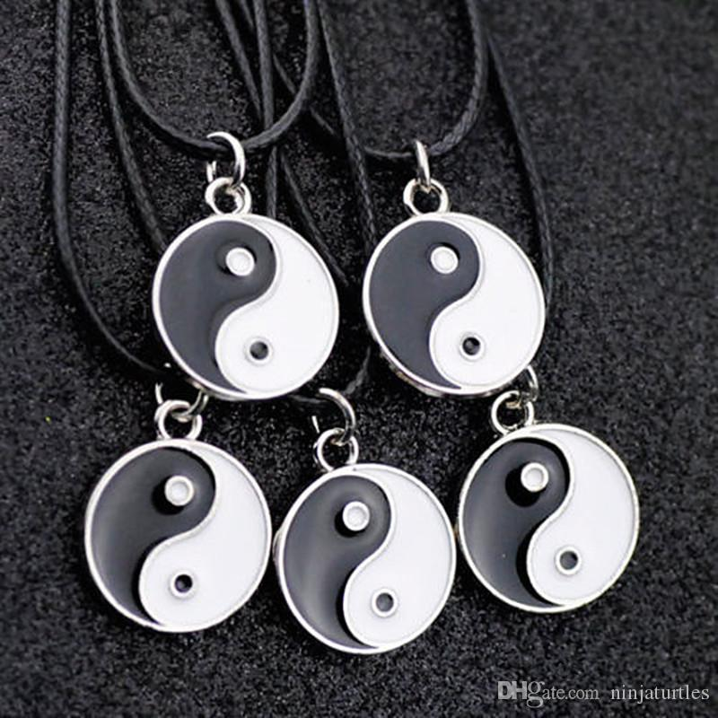 Lotto 50 pz moda Taoismo Tai Chi yin yang Collana pendente all'ingrosso HJ08