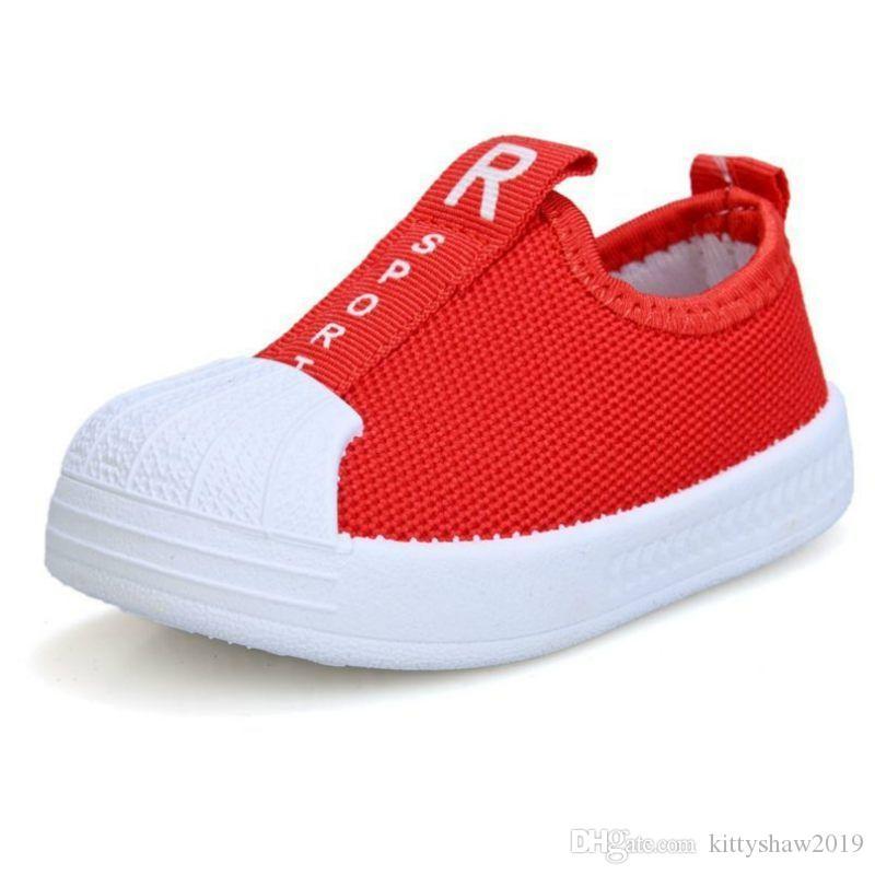 New Red Black Spring Säuglingskleinkind-Schuh-Mädchen-Jungen beiläufige Ineinander greifen Schuhe weiche Unterseite rutschfestem Jugendliche Baby Erste Wanderer Schuhe