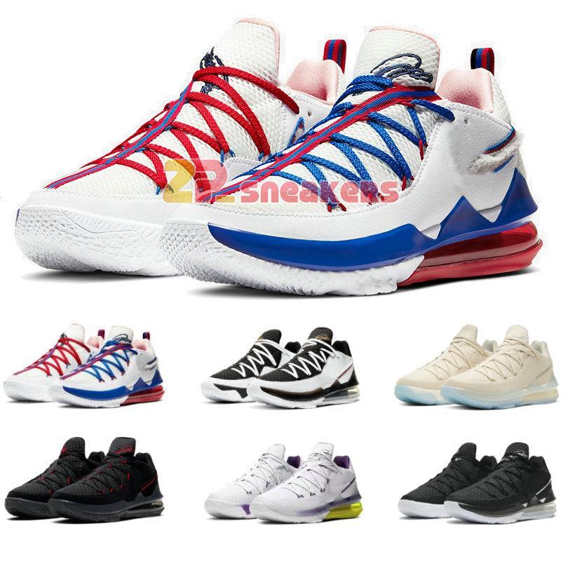 LeBron XVII düşük EP 17 Ayarlama Squad Paskalya Lakers Ev Metalik Altın Agimat CD5007-001-002 çocuklar erkek basketbol ayakkabıları büyüklüğü 40-46 Womens