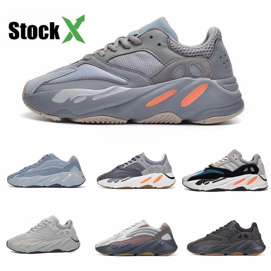 Kanye West 700 V2 Hastanesi Mavi Erkekler Kadınlar Teal Yansıtıcı Mıknatıs Utility Siyah Atalet Statik Erkek Eğitmenler Spor Sn # QA609 Ayakkabı Koşu