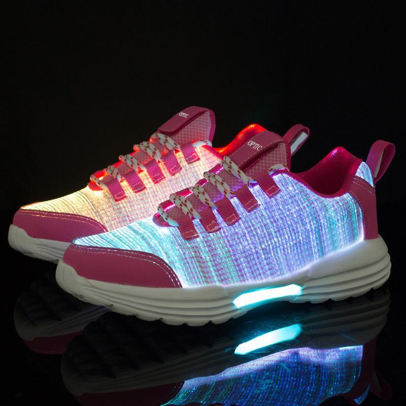 Işıklı Ayakkabı Erkek ve Kadın Ayakkabı Açık Sokak Dans Sporları Festivali Tasarımcı Ayakkabı Ücretsiz Kargo LED