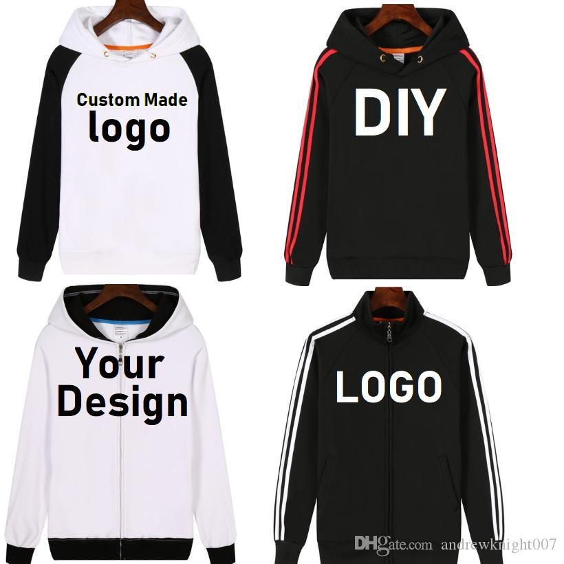 NEW Customize Mens Hoodies DIY Print LOGO Design Hoodie Fleece Thicken Coat Jacket Sweatshirts Wholesalers Drop Shipper