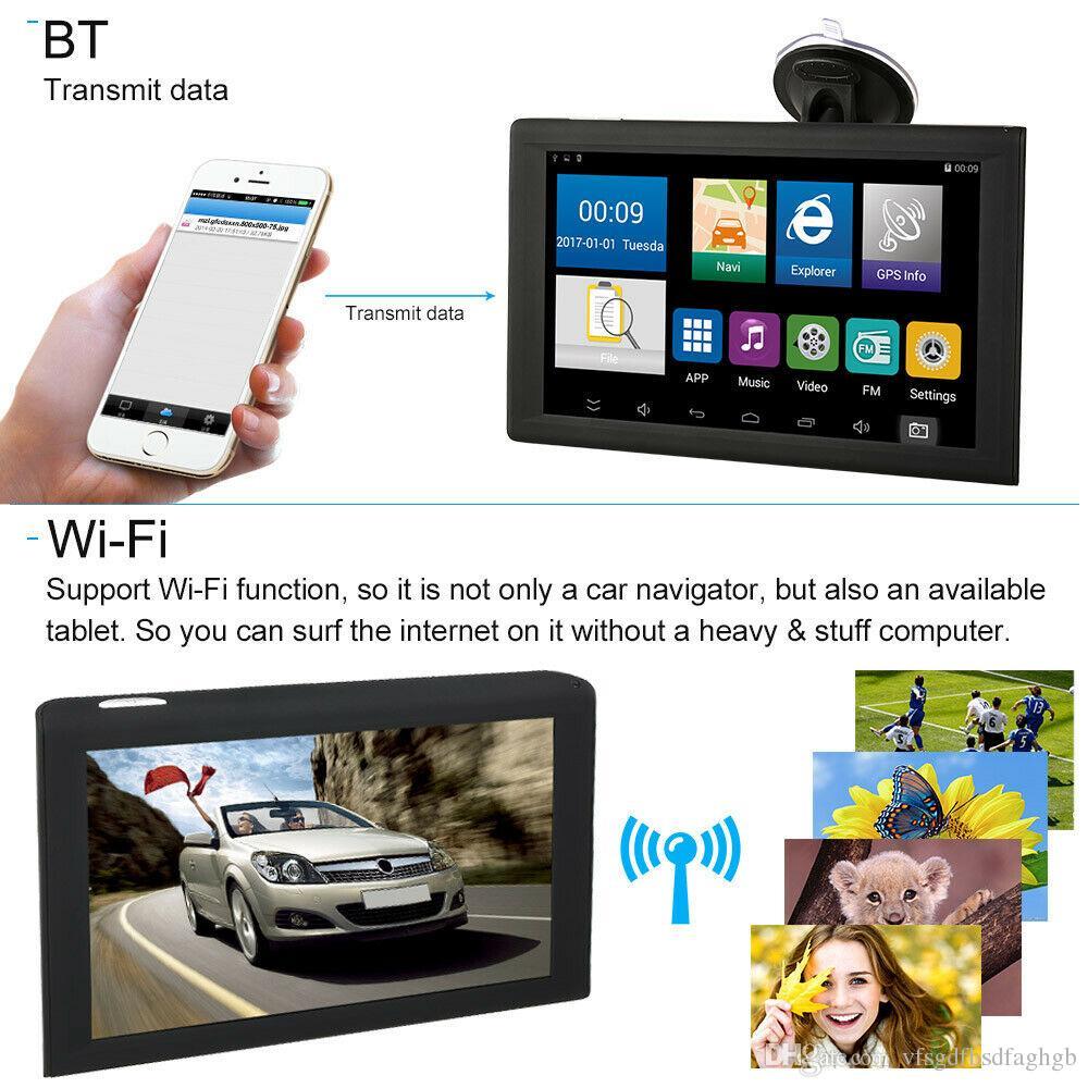 "New 9"" Android Car Gps Navigation Truck Navigator Sat Nav Free Map W/ DVR camera Bluetooth"