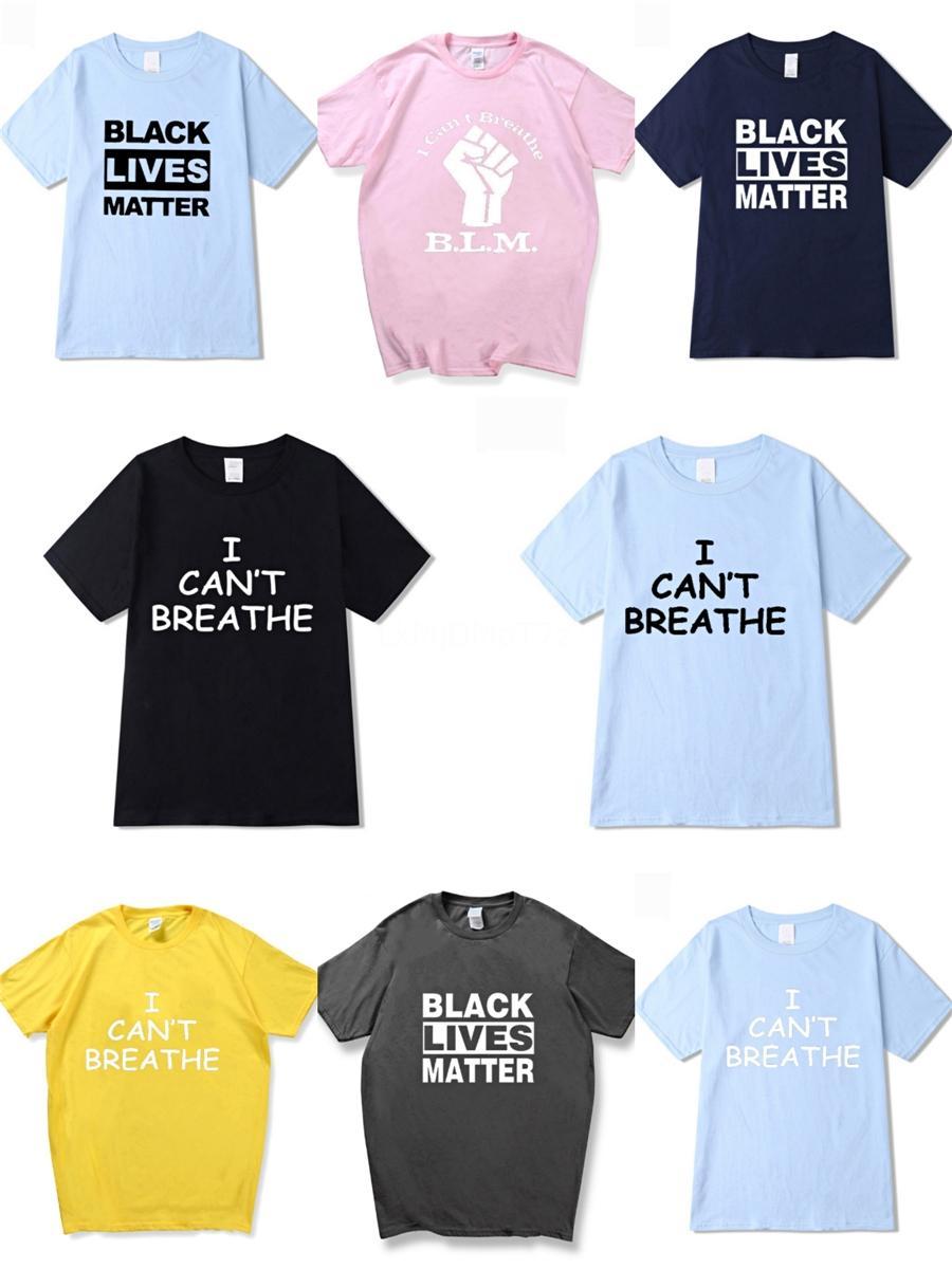 I Cant Breathe! Luxe Mens Designer T-shirt à manches courtes Designer Casual Mode classique Impression T-shirts de haute qualité Streetwear hommes Wo # 61