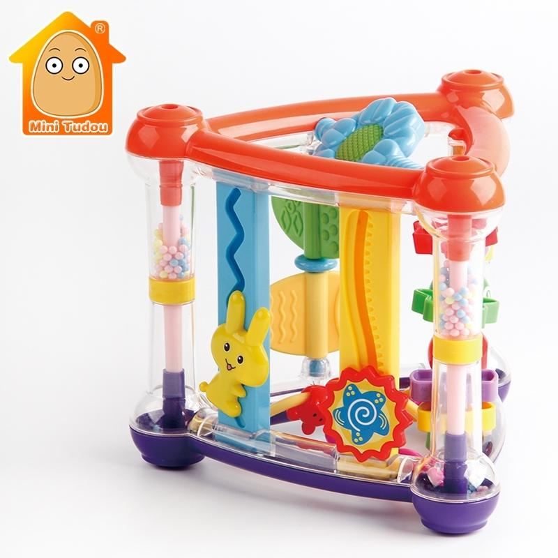 Toys For Baby 0-12 Months Activity Play Cube Infant Development Educational Hanging Toys Newborn Rattle Toy New Born Boy Girl CJ191216