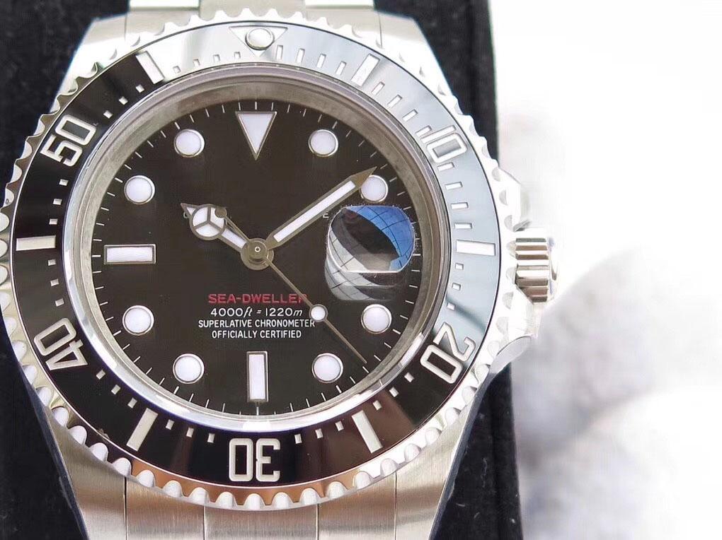 U1 كلاسيك نسخة الساعات SEA-بمدني 43MM 126600 الرجال الحركة التلقائية ووتش الميكانيكية الاجتياح السيراميك ساعة اليد الحافة الأصل المشبك