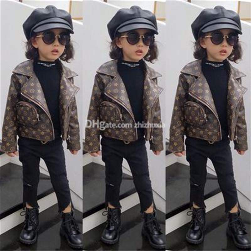 Kız Günlük Kış Güzel Stil Aşağı Coat PU Çocuklar Sıcak Baskılı Aşağı Çocuklar Kabanlar Katı Renk Kız Giysiler