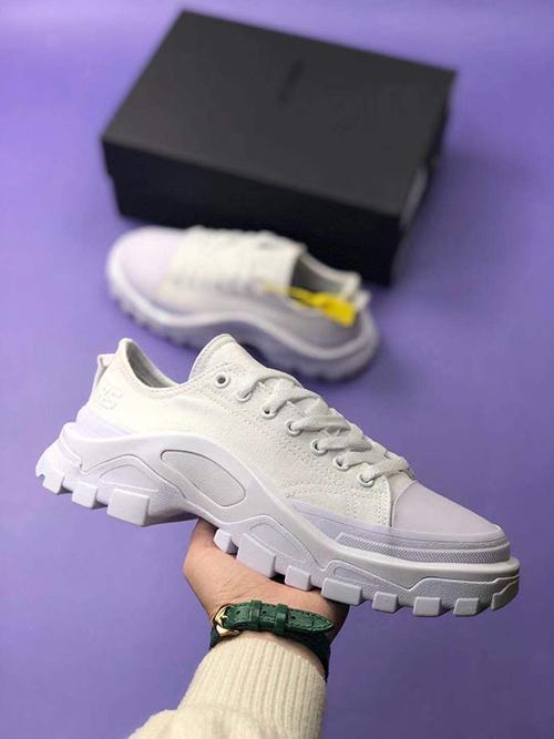Les nouveaux hommes Designer Shoes off Raf simon toile blanche faible Espadrilles pantoufle saboterie baskets vente design 40-45