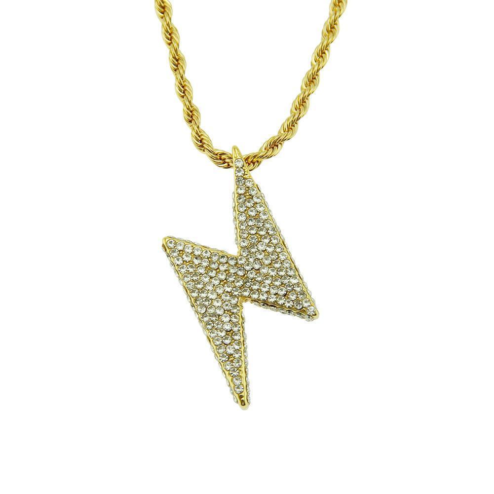2020 tasarımcı Avrupa ve Amerikan moda kişilik flaş elmas kolye hip hop gelgit marka takı kolye kadın ve erkek