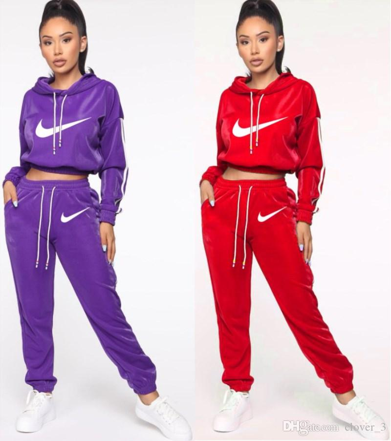 Women tracksuit long sleeve hoodie outfits 2 piece set brand sportswear fashion print sport suit autumn winter womens clothing lw2602