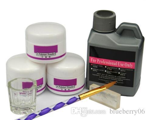 Hot Sale 7 Pcs/Set Acrylic Acrylic Nail Kit Crystal Nail Polymer Acrylic For Nails Set For Manicure