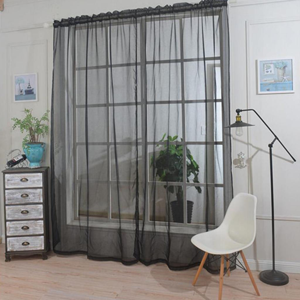 2021 1 Panel Rod Pocket Window Voile Sheer Curtain Valance For Living Room Sliding Glass Door Bedroom From Zeyuantrading 12 32 Dhgate Com
