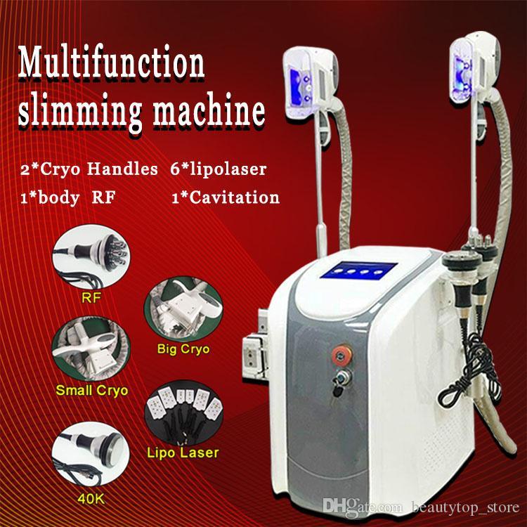 Cryo yağlı dondurma vakum Ağırlığı Makine iyi kavitasyon rf zayıflama makinesi lipo lazer cryo zayıflama güzellik ekipmanları CE azaltmak