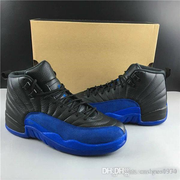 2019 Wholesale 12 Game Royal Men Basketball Shoes 12s FIBA Reverse Grey Mens Designer Trainer Sports Athletic Sneakers