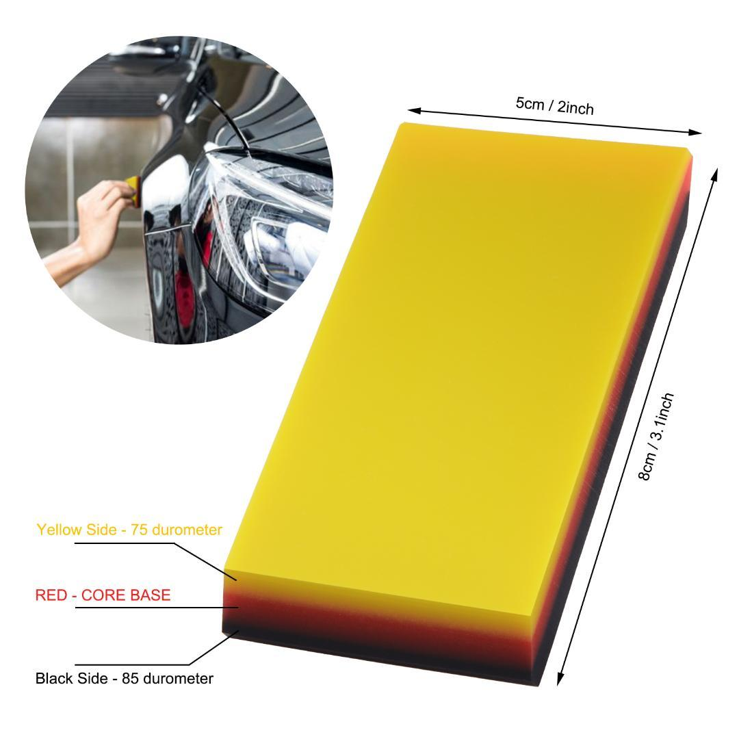 FOSHIO 2IN1 소프트 탄소 섬유 보호 필름은 스퀴지 스크레이퍼 비닐 랩 자동차 창 색조 도구 자동 자동차 청소 브러시 설치