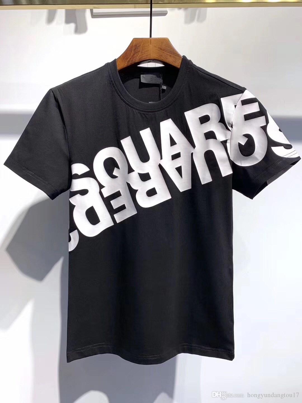 2020 camisa moda de luxo homens e mulheres de alta qualidade tamanho T-shirt M-3XL D2537 frete grátis T-shirt dos homens do hip hop