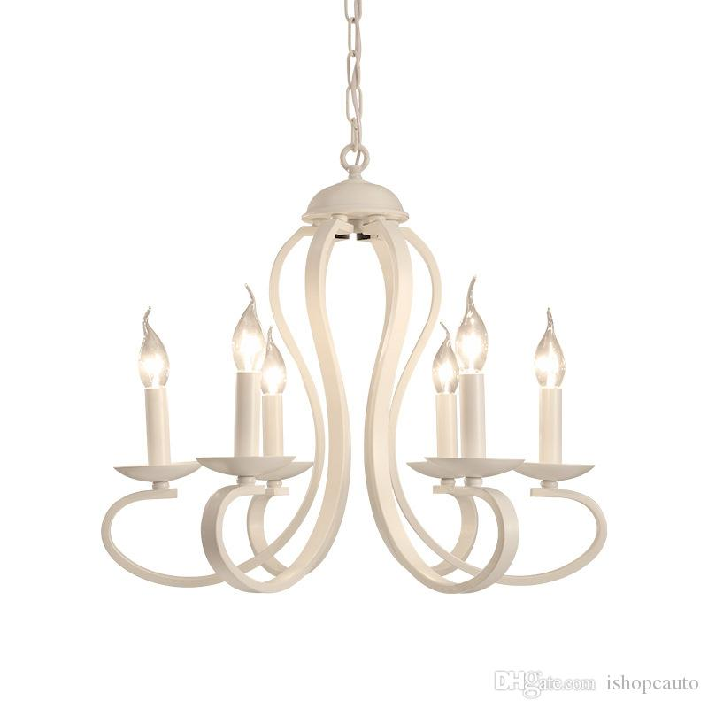 American Country Chandelier Loft Hanging Lighting Vintage Pendant Kitchen Light Fixture Living Room Bedroom Hanging lamps -RNB64