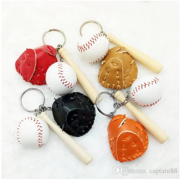 Gut A ++ Creative-Baseball Schlüsselanhänger Baseball-Fan liefert Geschenke Sport Souvenirs KR154 Schlüsselanhänger Mischungsauftrag 300 Stück