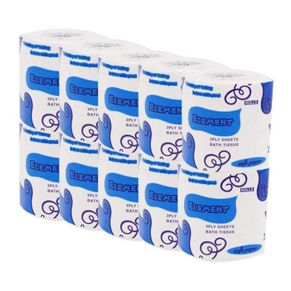 10 rolos de papel higiénico papel de 3 dobras de Banho Cozinha Household Sala Tissue Party Supplies descartável suave como a seda rolo de papel macio