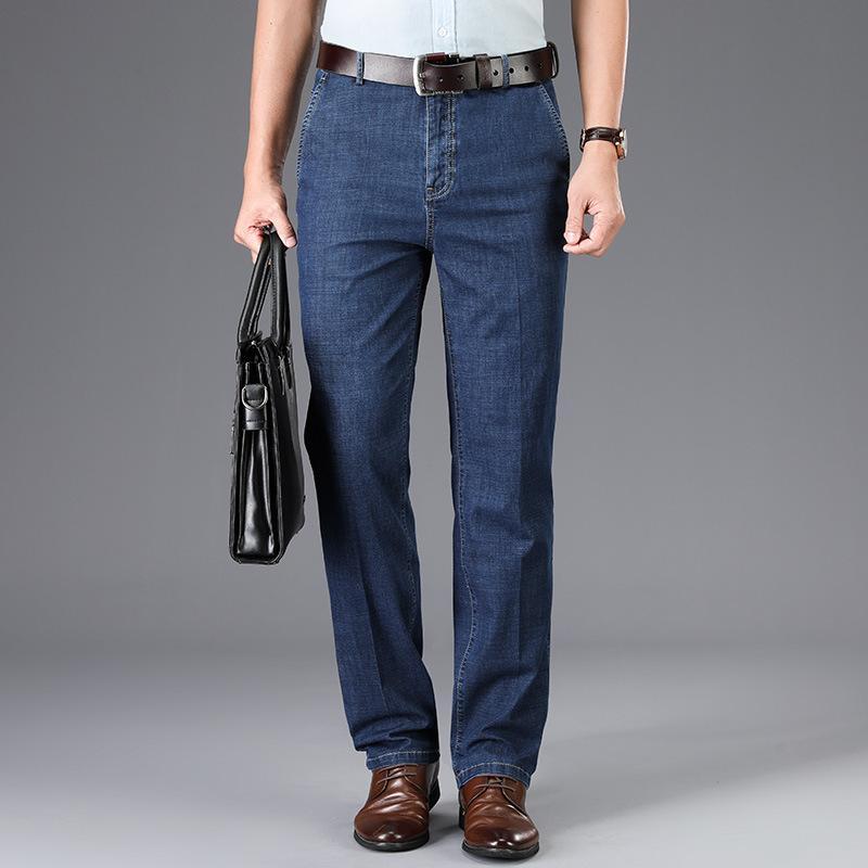 Ymwmhu 2020 nuovi uomini di modo Jeans Affari Casul autunno e in estate denim pantaloni lunghi sciolti Solid luce lusso Dimensioni pantaloni più