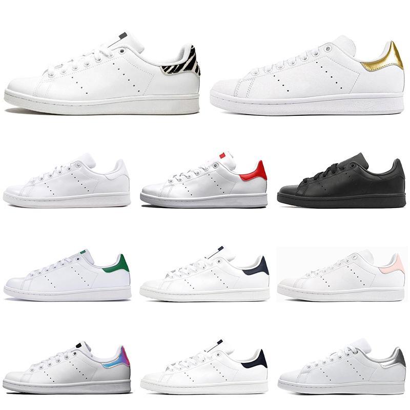 Adidas uomini a buon mercato e Stan Smith donne di alta qualità sneakers sportivo in pelle tripla bianchi all'aperto appartamenti casuali Basso-top calza il formato 36-44 piedi