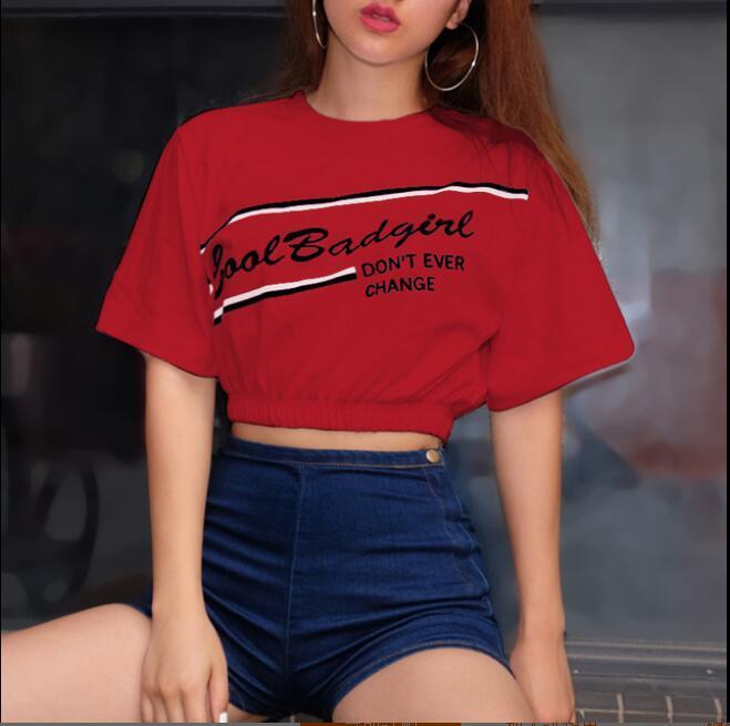편지 섹시한 짧은 소매 t- 셔츠 레이디와 여성 티 셔츠 새로운 여름 디자이너 T 셔츠 3 색 S-XL 탑