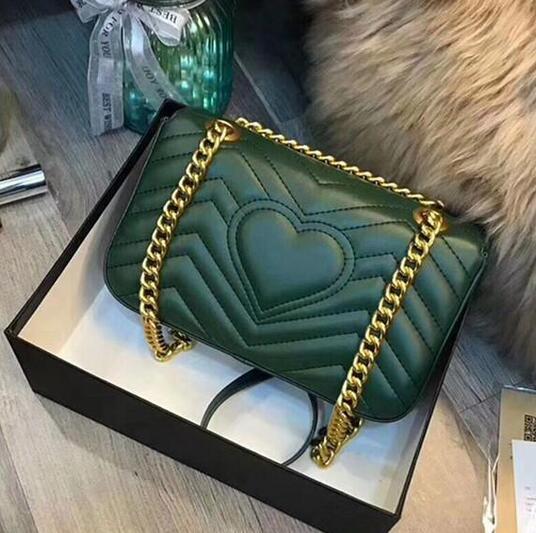 Designer-Luxus-Handtaschen Geldbörsen 2019 hochwertige Love heart V Wellenmuster Satchel Schultertasche Kette Luxus Umhängetasche Geldbeutel Einkaufstaschen