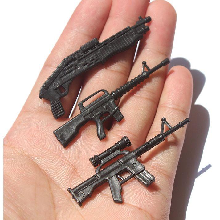 شحن مجاني 10 مصغرة العسكرية ست مجموعات صغيرة رشاش نموذج ثابت العسكرية نموذج الدعامة الأطفال بندقية لعبة الرمال الجدول لعبة