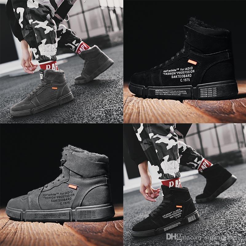 toptan spor ayakkabılar spor ayakkabı moda yüksek topuk sıcak botlar klasik siyah eğitmenler Géry kış koşu ayakkabıları mens size39-44