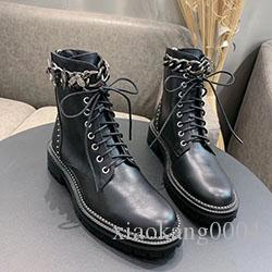 Designer women Shoes Fashion British Boots Round Toe Martin Boots Buckle Strap Chunky Heel Round Toes Fashion Embroidered Boots xyx02