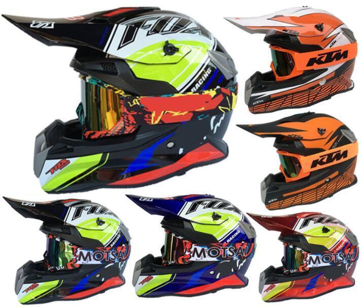 moto FOX complète hors route casque moto DH hors route en descente casque course professionnelle KTM casque site de la route forestière