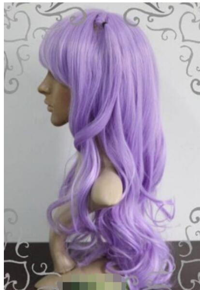 Бесплатная доставка + + мода светло-фиолетовый косплей парик партии