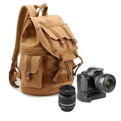 Siebenfarbige SLR-Kamerataschenrucksack aus Baumwolle
