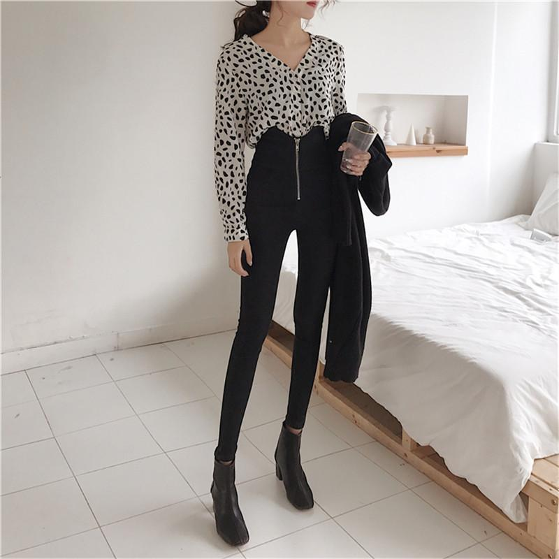Женские джинсы Real S 2021 мода ретро была тонкой и высокой талии молния нижние узкие узкие карандашные брюки
