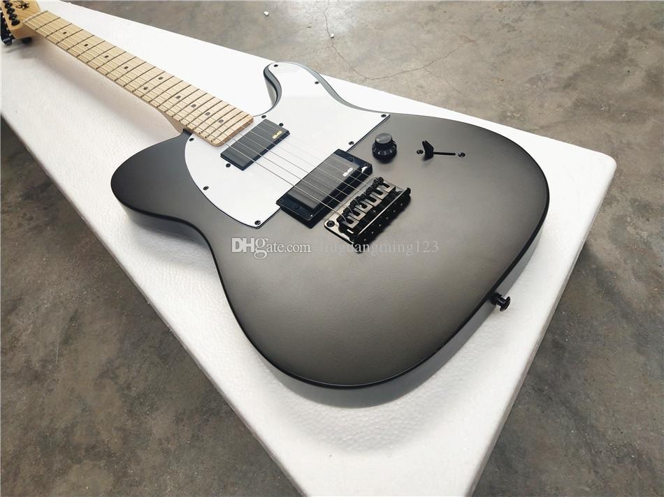 jim kök jazzmaster imza / 6 dize elektro gitar / akçaağaç boyun / Sublight siyah elektro gitar / ücretsiz kargo