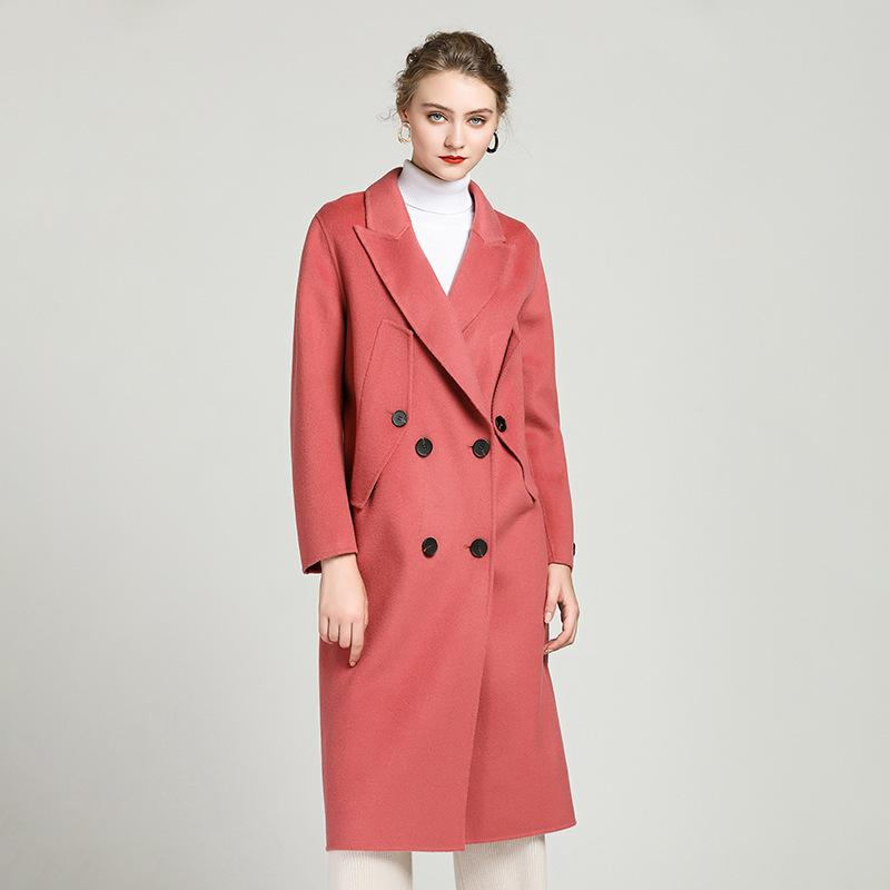 Spring Autumn Jacket Women Clothes 2020 Korean Elegant Wool Coat Female Long Woolen Coats Outwear Tops Casaco Feminino ZT2242