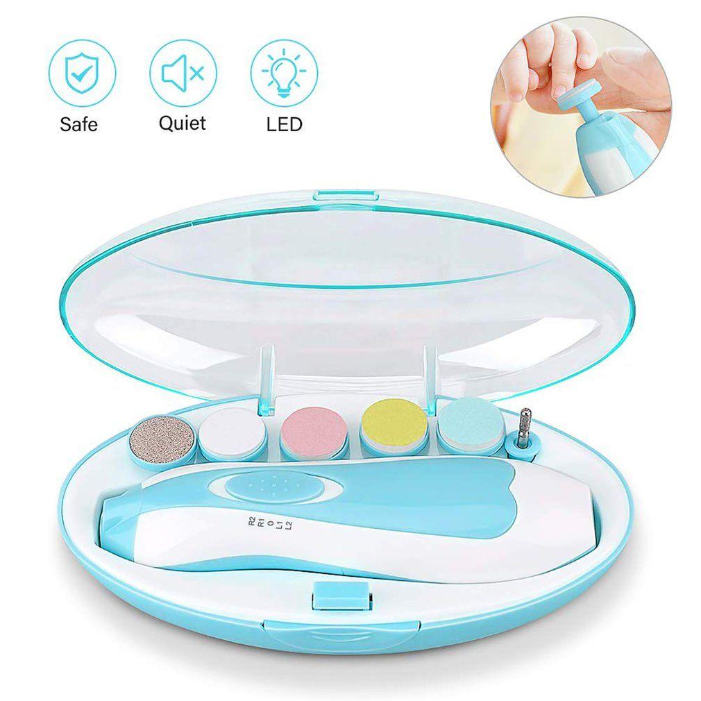 6-en-1 multi-fonction bébé électrique Nail Polisseuse Manucure bébé Affûteuse Soins des ongles Outils de manucure