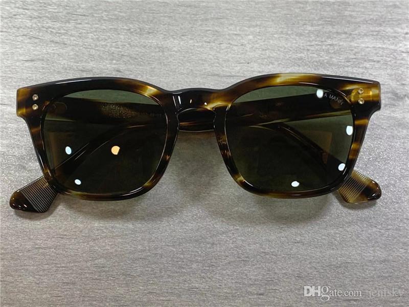 상자 새로운 광장 선글라스 MANN 블랙 우드 프레임 태양 안경 남성 선글라스 차양 (102 개) 사각형 선글라스 UV 400 렌즈
